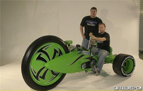 - The Mean Green Machine big wheel for adults
